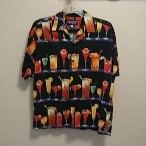 Five Crown Easy Livin Original Cocktail Shirt Sz L